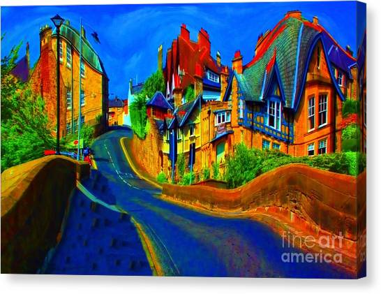 Wibbly Wobbly Village Canvas Print