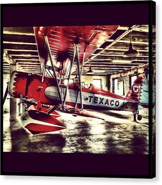 Biplane Canvas Print - #wichita #aviation #biplane #abstract by Brian Duram