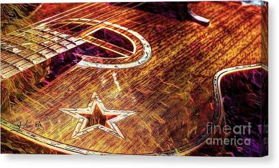 Wicked Music Digital Guitar Art By Steven Langston Canvas Print by Steven Lebron Langston