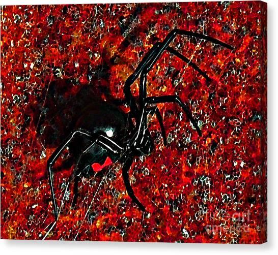 Black Widow Canvas Print - Wicked Widow - Rouge by Al Powell Photography USA