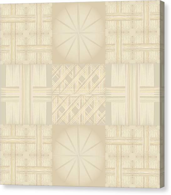 Wicker Quilt Canvas Print