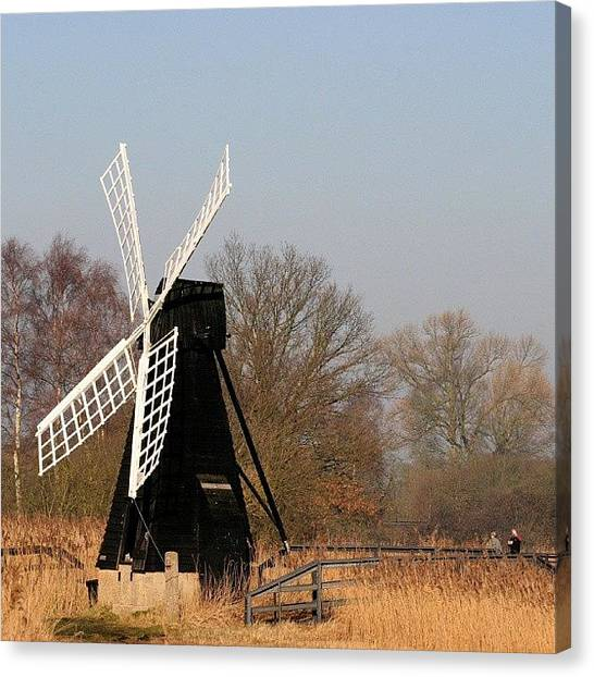 Metallic Canvas Print - Wickfen Windmill by Tony Webb