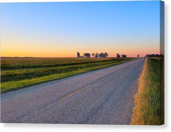 Wide Open Roads - Rural Georgia Landscape Canvas Print by Mark E Tisdale