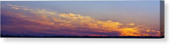Wide Sunset Panorama Canvas Print