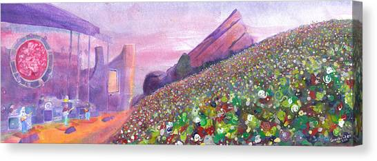 Widespread Panic At Redrocks Canvas Print