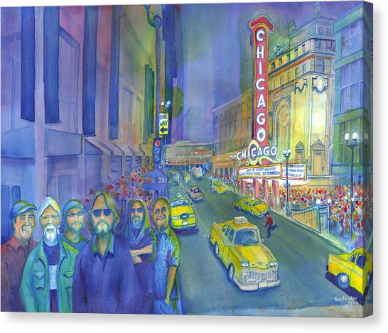 Widespread Panic Chicago  Canvas Print