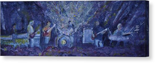 Widespread Panic Painted Live Two Canvas Print