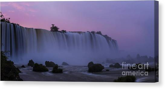 Iguazu Falls Canvas Print - Width Of Iguacu Sunrise by Mike Reid