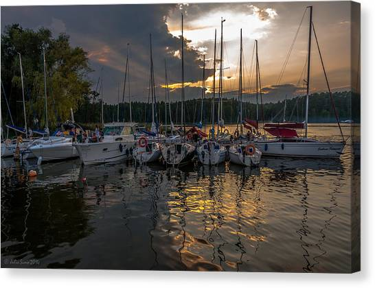 Wierzba Yacht Marina In The Afternoon Canvas Print