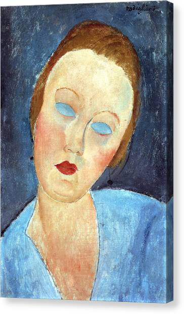 Head Tilt Canvas Print - Wife Of The Painter Survage by Amedeo Modigliani