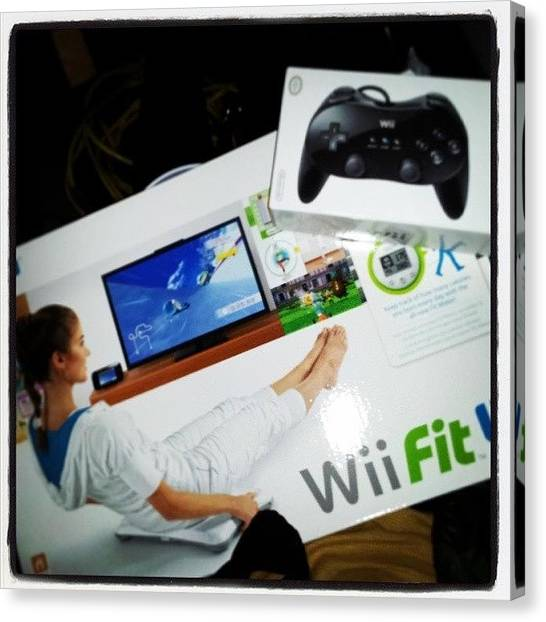 Wii Canvas Print - #wii #yes #thankyou #stoked by Mandy Shupp