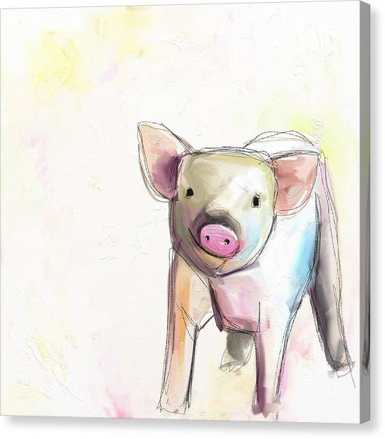 Pastel Canvas Print - Wilber by Cathy Walters