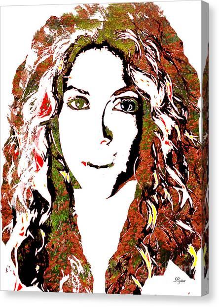 Shakira Canvas Print - Wild Art Shakira by Dalon Ryan