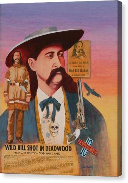 Wild Bill Hickok  Canvas Print by J W Kelly