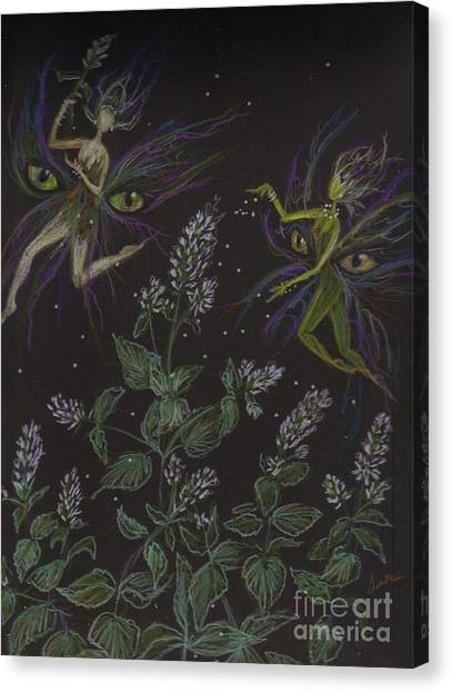 Wild Catnip Canvas Print