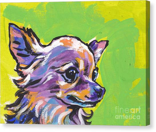 Chihuahuas Canvas Print - Wild Chi by Lea S