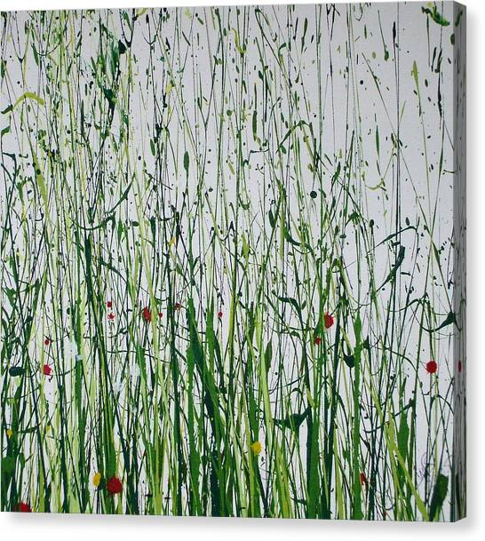 Wild Flowers And  Grasses No 4 Canvas Print by Mike   Bell