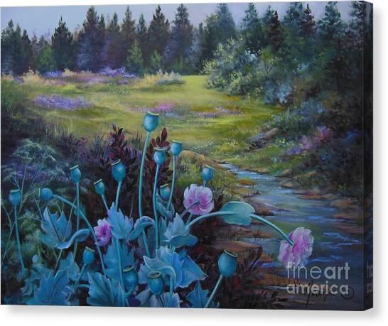 Wild Garden Canvas Print by Jean  Yanowski