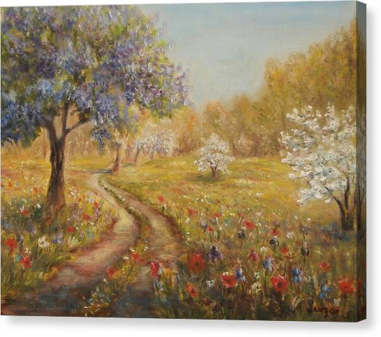 Wild Garden Path Canvas Print