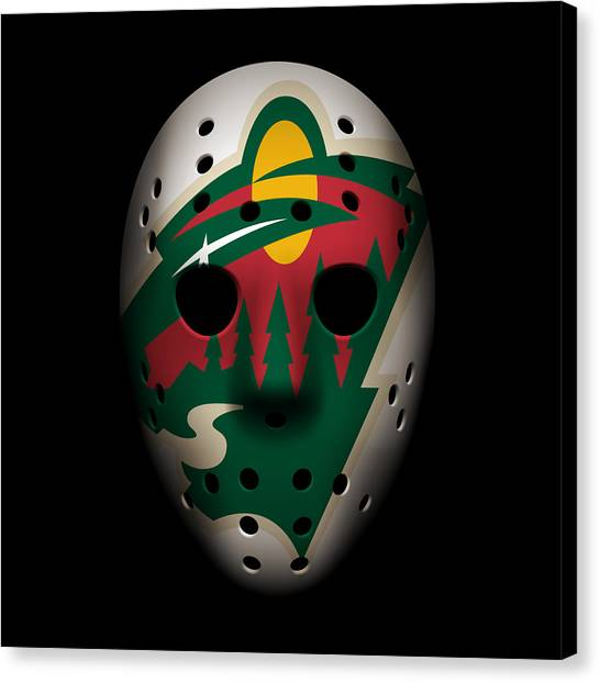Minnesota Wild Canvas Print - Wild Goalie Mask by Joe Hamilton