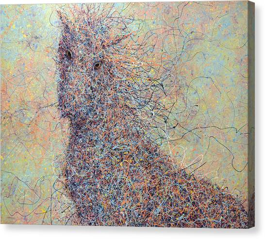 Abstract Horse Canvas Print - Wild Horse by James W Johnson