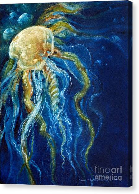 Wild Jellyfish Reflection Canvas Print