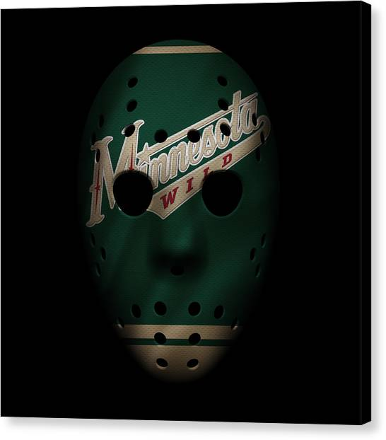 Skating Canvas Print - Wild Jersey Mask by Joe Hamilton