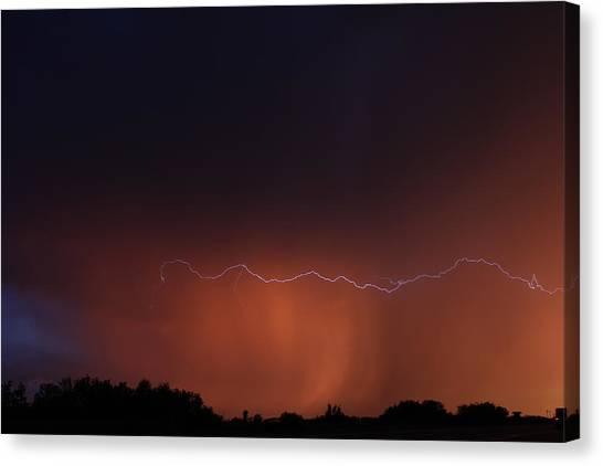 Wild Lightning Canvas Print