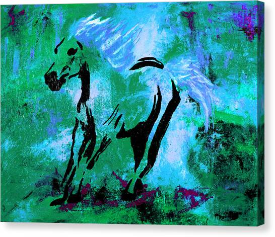 Wild Midnight Canvas Print