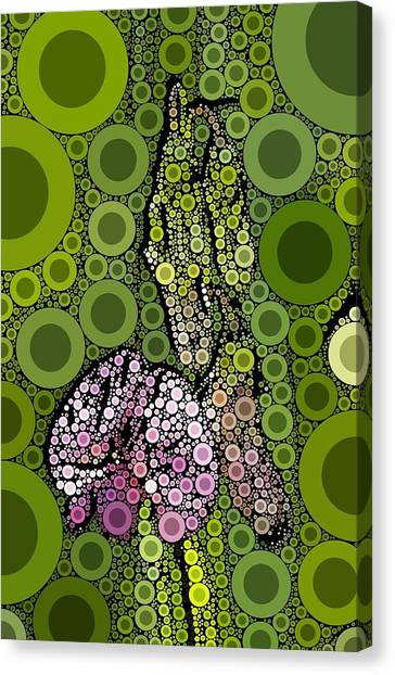 Wild Pea Abstracted Canvas Print