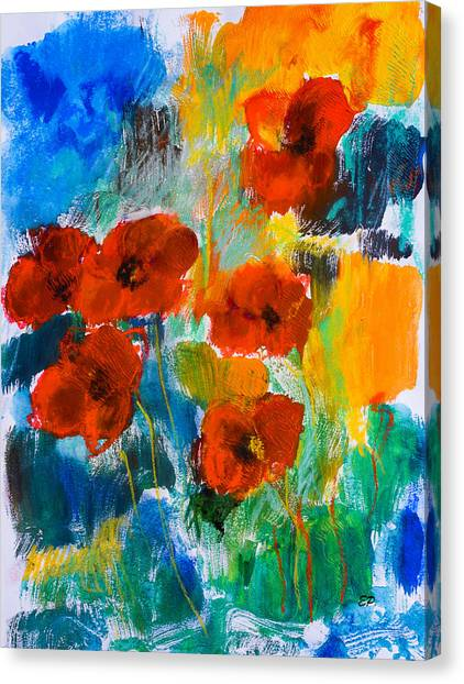 Fauvism Canvas Print - Wild Poppies by Elise Palmigiani