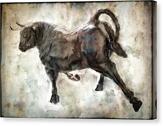 Minotaurs Canvas Print - Wild Raging Bull by Daniel Hagerman