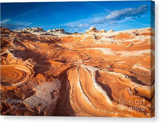 Arizona Coyotes Canvas Print - Wild Sandstone Landscape by Inge Johnsson