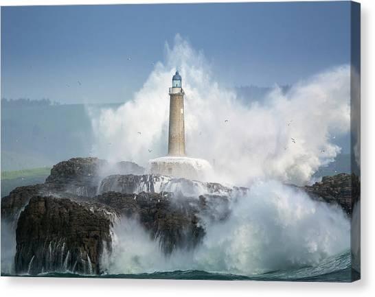 Ocean Cliffs Canvas Print - Wild Sea. by Sergio Saavedra Ruiz