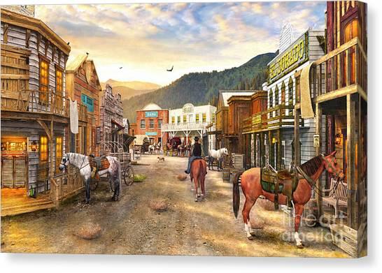 Wild West Town Digital Art By Dominic Davison