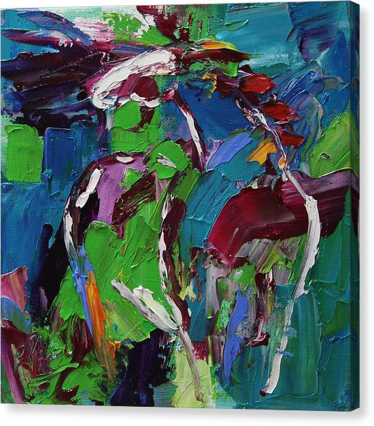 Canvas Print - Wild Wind Horse 17 Out Of 100 2014 by Laurie Pace