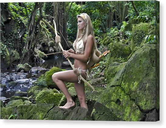 Wild Woman 4 Canvas Print by Don Ewing