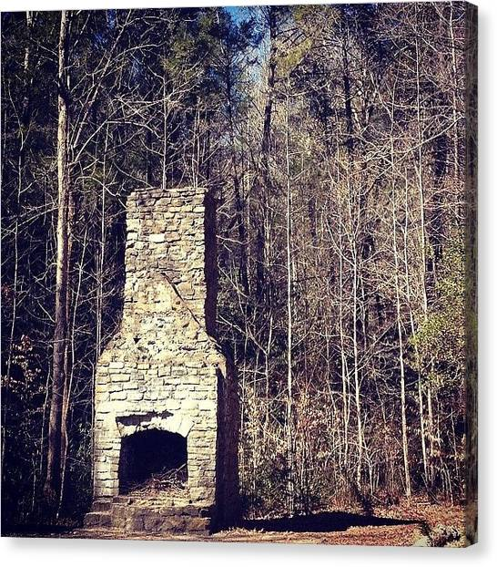 South Carolina Canvas Print - Forgotten Chimney by Shelly Rodriguez