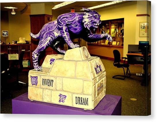Kansas State University K-state Canvas Print - Wildcat Engineering by Jean Hutchison