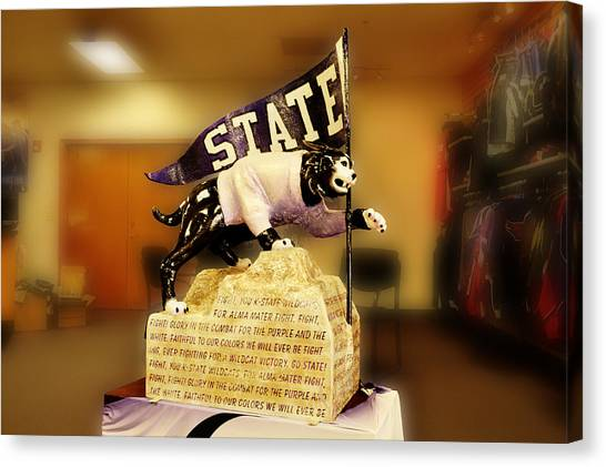 Kansas State University K-state Canvas Print - Wildcat Willie by Jean Hutchison