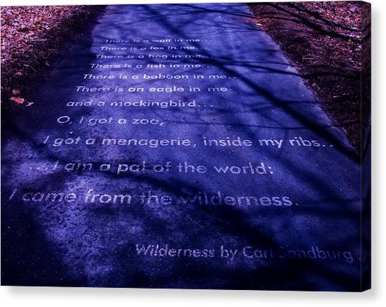 Wilderness - Carl Sandburg Canvas Print