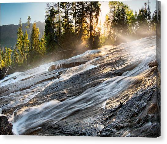 Teton National Forest Canvas Print - Wilderness River by Leland D Howard