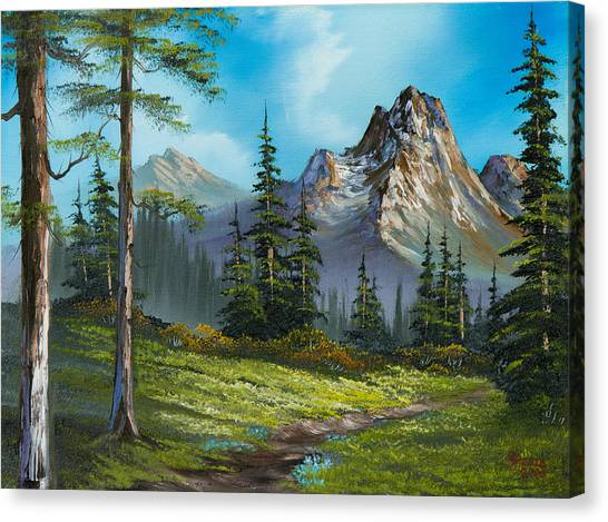 Bob Ross Canvas Print - Wilderness Trail by Chris Steele