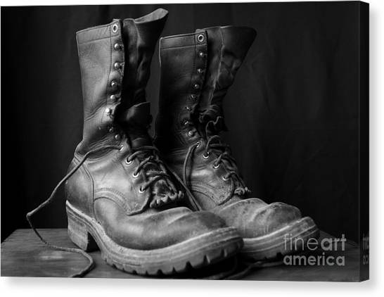 Wildland Fire Boots Still Life Canvas Print