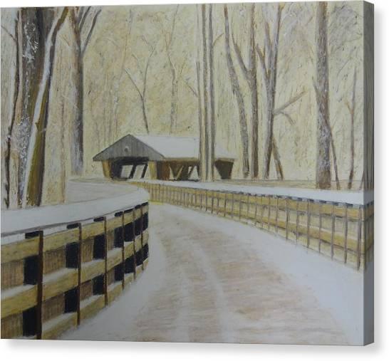 Wildwood Bridge Canvas Print by Samuel McMullen