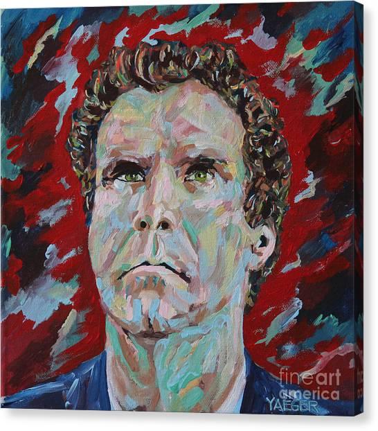 George W. Bush Canvas Print - Will Ferrell Portrait by Robert Yaeger