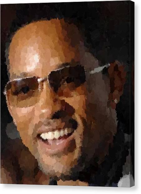 Will Smith Portrait Canvas Print