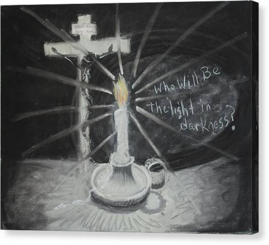 Will You Be The Light? Canvas Print by Shelia  Doebereiner