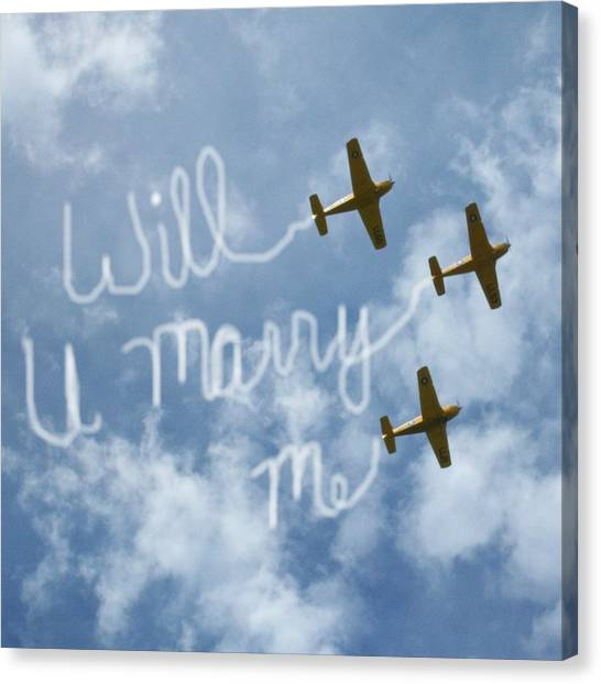 Will You Marry Me Canvas Print