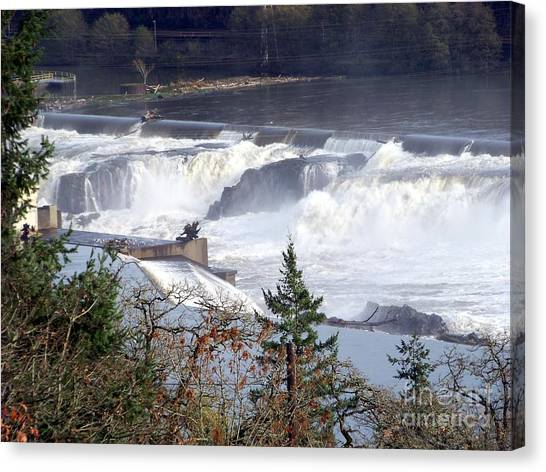 Willamette Falls Canvas Print